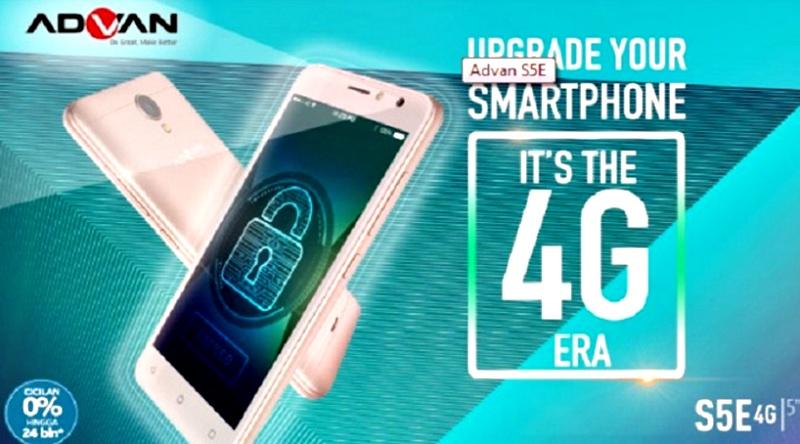 Harga Advan S5E 4G - Harga Advan S5E 4G, HP Selfie dengan Dual Kamera 5 MP