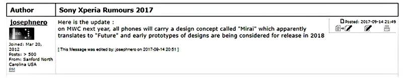 Xperia Konsep Mirai - Sony Siap Perkenalkan Desain Xperia Terbarunya Tahun Depan