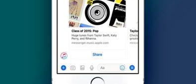 Apple Music Tersedia di Facebook Messenger 395x170 - Keren, Apple Music Tersedia di Facebook Messenger