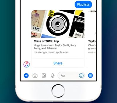 Apple Music Tersedia di Facebook Messenger 395x350 - Keren, Apple Music Tersedia di Facebook Messenger