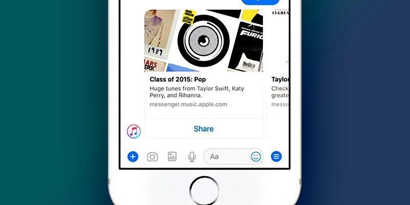 Apple Music Tersedia di Facebook Messenger 800x400 - Keren, Apple Music Tersedia di Facebook Messenger
