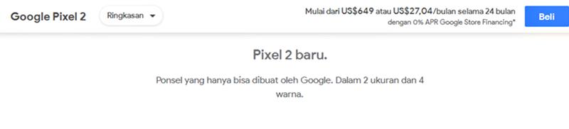 Cara Pesan Google Pixel 2 - Pre-Order Google Pixel 2 & Pixel 2 XL Dibuka, Ini Cara Pemesananya