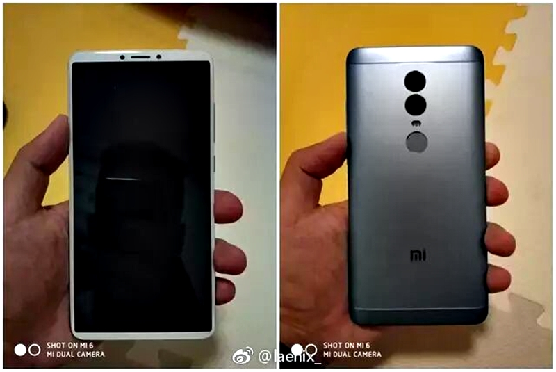 Xiaomi Redmi Note 5 - Ini Penampakan Xiaomi Redmi Note 5 dengan Layar 18:9